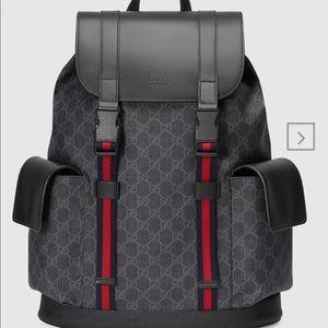 GG Black backpack - Gucci